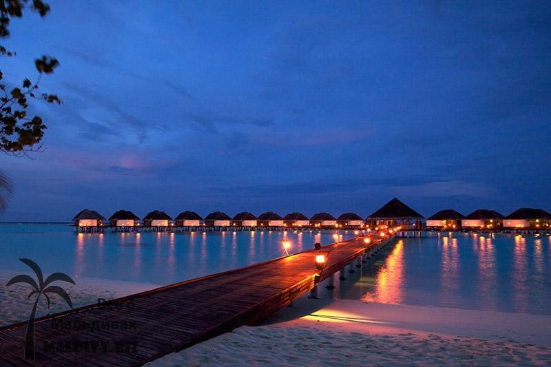 Бунгало на Мальдивах.