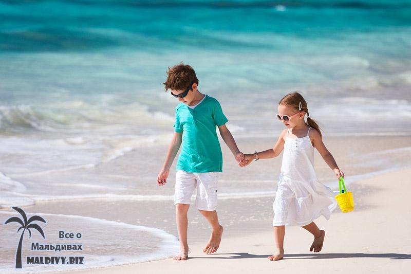 Отдых с детьми на Мальдивских островах.