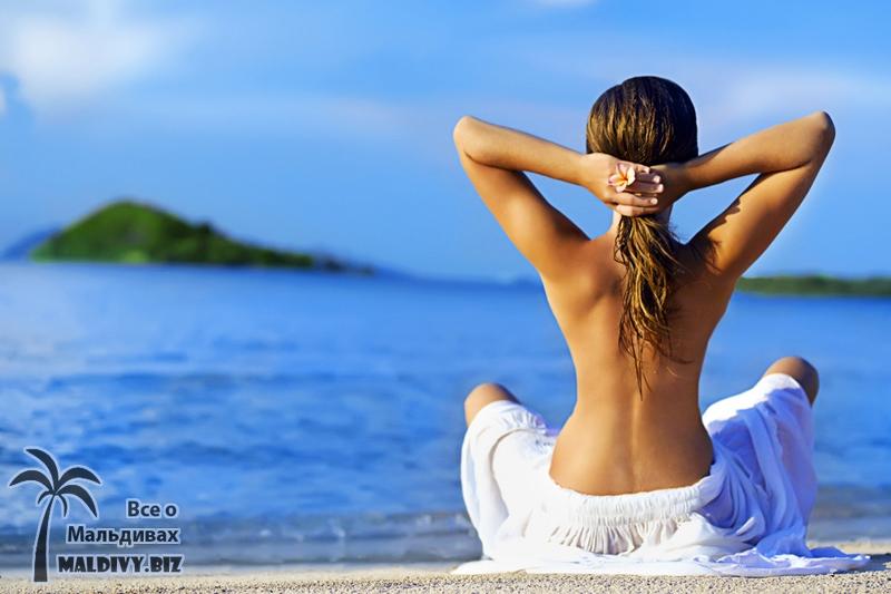 Отдых на Мальдивах, девушки.